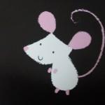 Une souris bleue